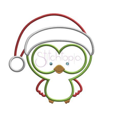 Stitchtopia Christmas Owl Santa Applique Design