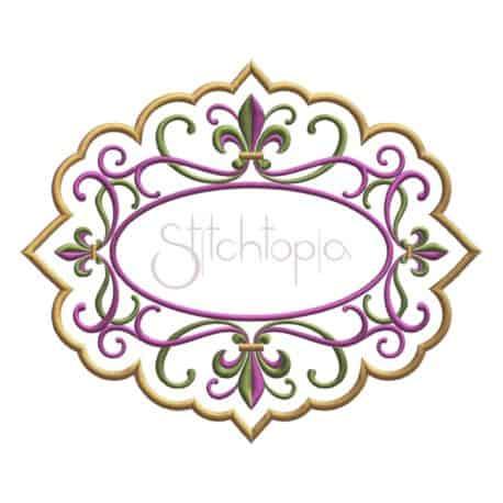 Stitchtopia Fleur de Lis Applique Frame