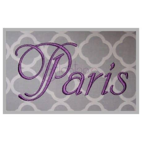 Paris embroidery font