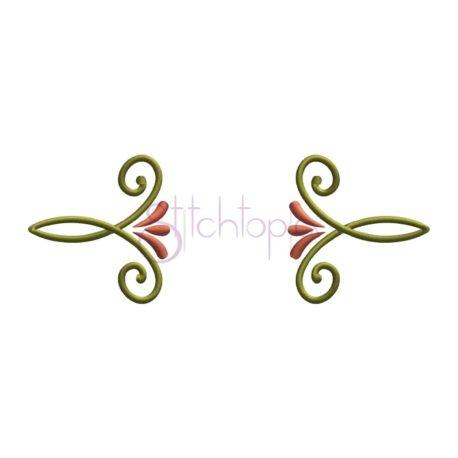 Stitchtopia Swirly Monogram Accent
