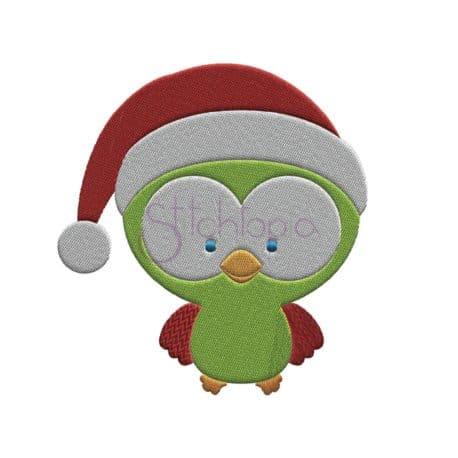 Stitchtopia Christmas Owl Santa Embroidery Design