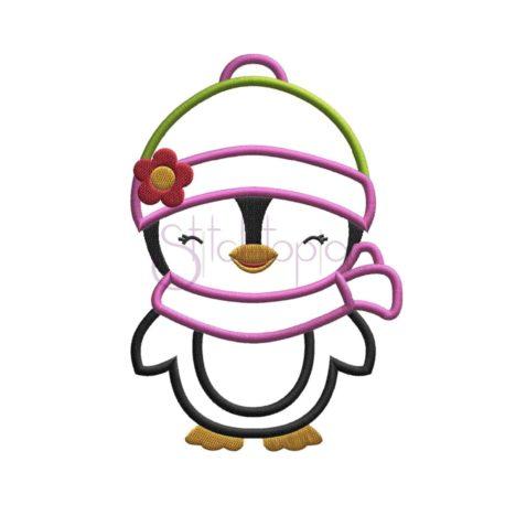 Stitchtopia Penguin Girl Applique Design