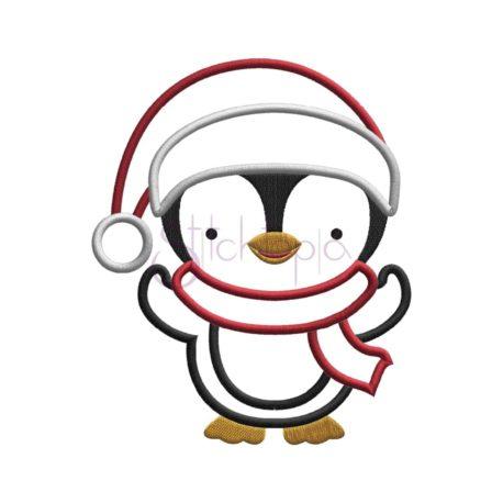 Stitchtopia Santa Penguin Boy Applique Design
