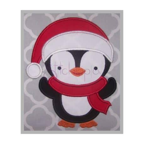 Stitchtopia Santa Penguin Boy Applique Design b