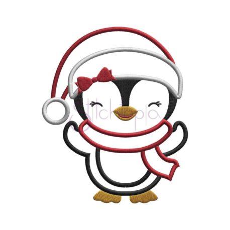 Stitchtopia Santa Penguin Girl Applique Design