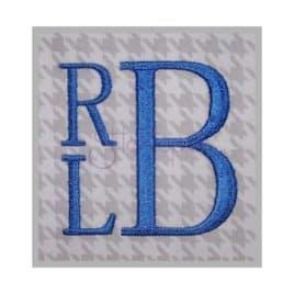 Stacked Monogram Font – 1″ 1.5″ 2″ 2.5″ 3″
