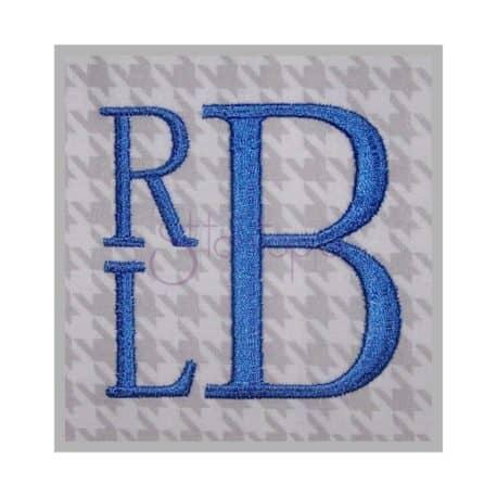 Stitchtopia Stacked Monogram Set RLB