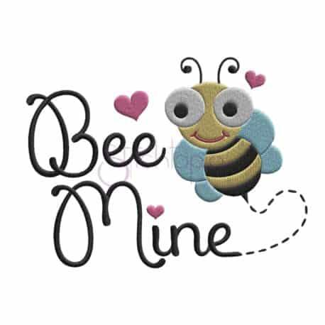 Stitchtopia Bee Mine Embroidery Design