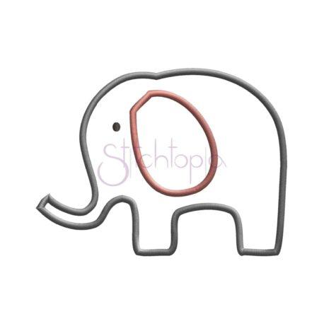 Stitchtopia Elephant 2.0 Applique Design