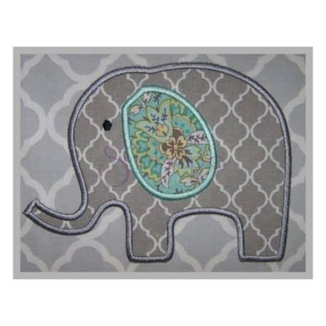Stitchtopia Elephant 2.0 Applique Design b