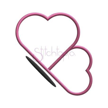 Stitchtopia Valentine's Day Heart Butterfly Profile Applique b
