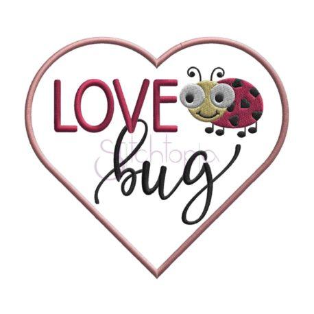 Stitchtopia Valentine's Day Love Bug Applique Design
