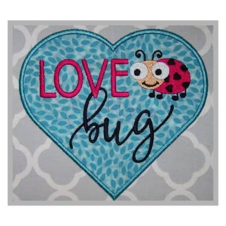 Stitchtopia Valentine's Day Love Bug Applique Design b