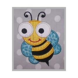 Cute Bugs Bee Applique Design