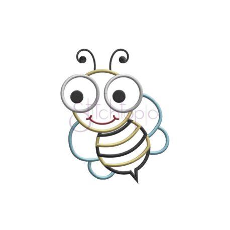 Stitchtopia Cute Bugs Bee Applique Design B