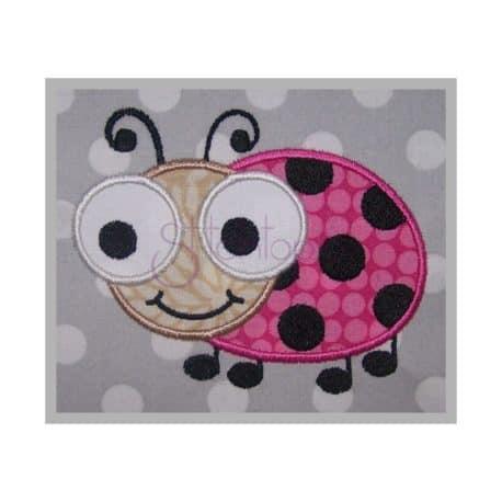 Stitchtopia Cute Bugs Ladybug Applique Design