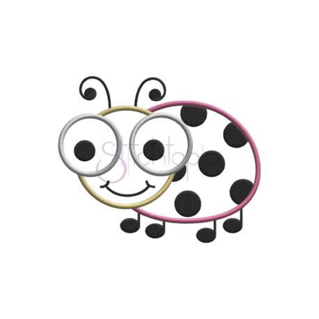 Stitchtopia Cute Bugs Ladybug Applique Design B