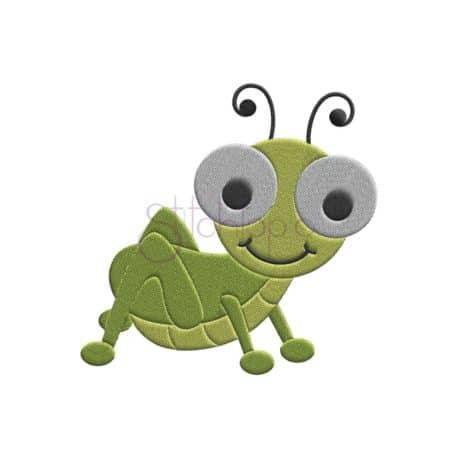 Stitchtopia Grasshopper Embroidery Design