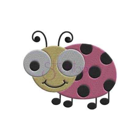 Stitchtopia Ladybug Embroidery Design