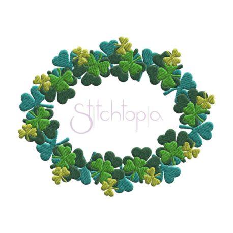 Stitchtopia Shamrock Filled Frame Oval