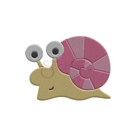Stitchtopia Snail Embroidery Design