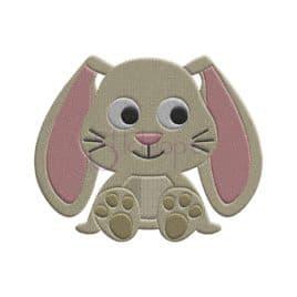 Bunny Embroidery Design – Boy