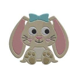 Bunny Embroidery Design – Girl