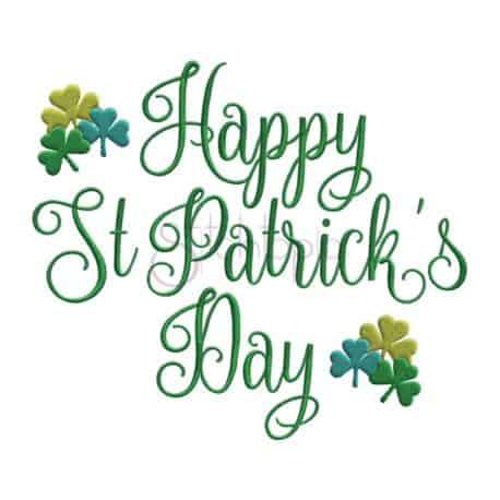 Stitchtopia Happy St Patrick's Day Embroidery Design