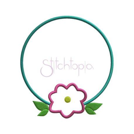Stitchtopia Round Flower Applique Frame
