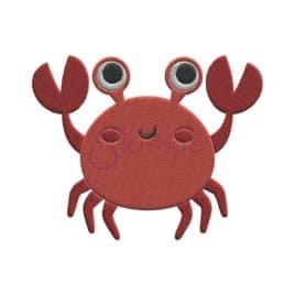 Under the Sea Crab Embroidery Design