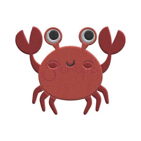Stitchtopia Under the Sea Crab Embroidery Design