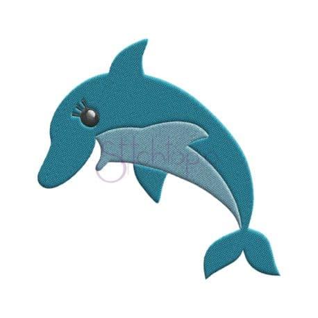 Stitchtopia Under the Sea Dolphin Embroidery Design