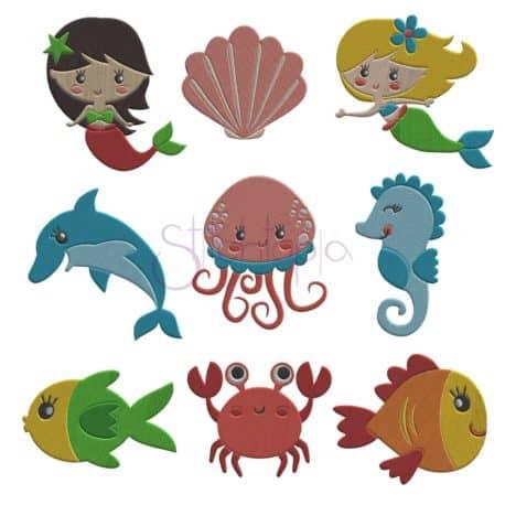 Stitchtopia Under the Sea Embroidery Design Set