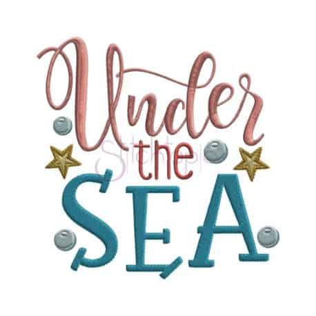 Stitchtopia Under the Sea Embroidery Design