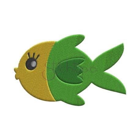 Stitchtopia Under the Sea Fish #1 Embroidery Design