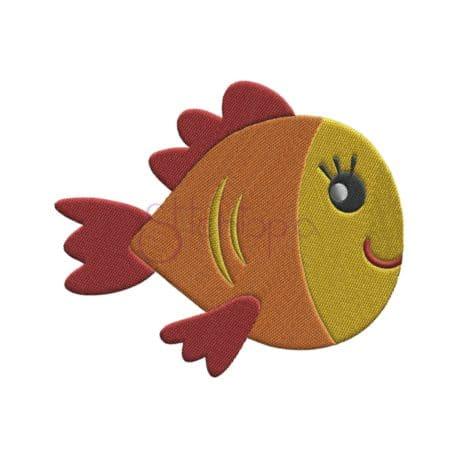 Stitchtopia Under the Sea Fish #2 Embroidery Design