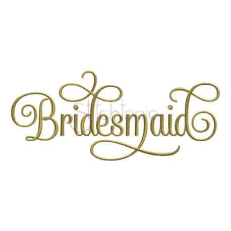 Stitchtopia Bridesmaid Embroidery Design