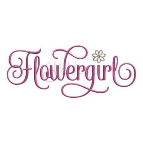 Stitchtopia Flowergirl Embroidery Design
