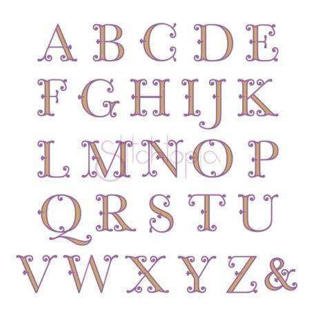 Stitchtopia Victorian Monogram Set All Letters