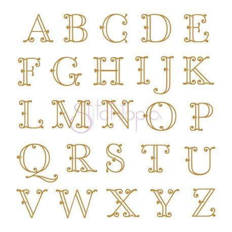 Stitchtopia Victorian Monogram Set - Small - All Letters