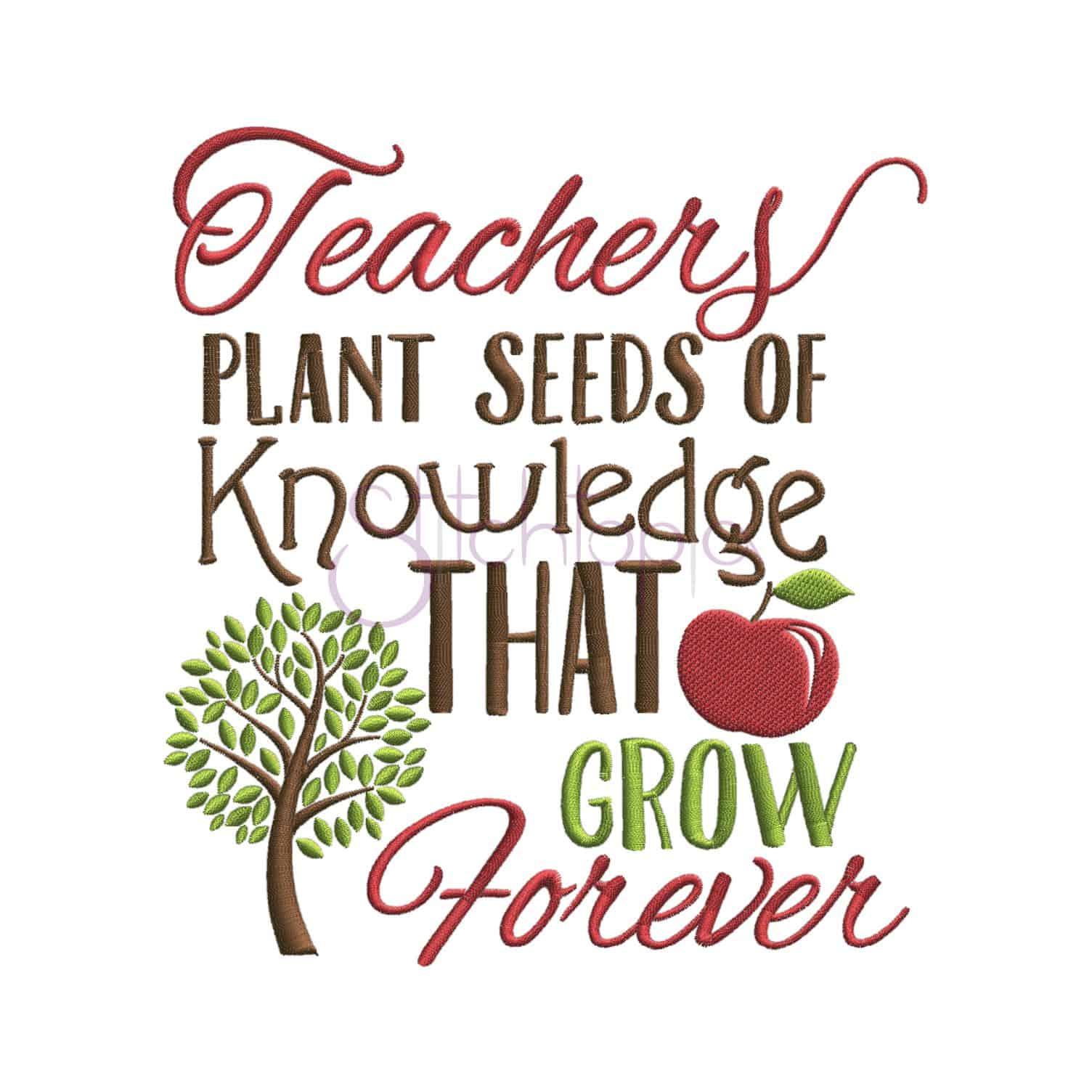 Teachers plant seeds embroidery design stitchtopia