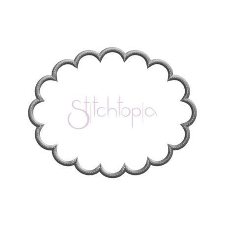 Stitchtopia Scalloped Oval Applique with Bean Stitch