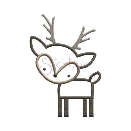 Stitchtopia Forest Animals Deer Applique Design