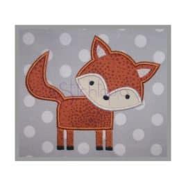 Forest Animals Fox Applique Design
