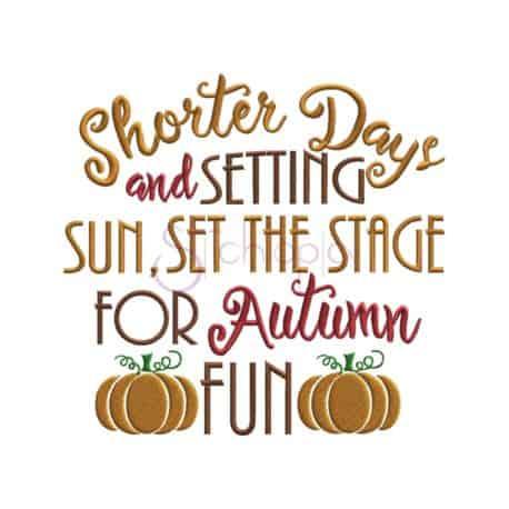 Stitchtopia & Honeybee SVG Halloween Autumn Fun Embroidery Design