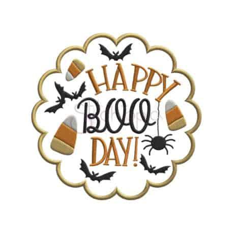 Stitchtopia & HoneybeeSVG Happy Boo Day Applique Design