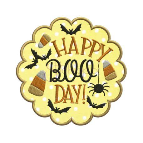 Stitchtopia & HoneybeeSVG Happy Boo Day Applique Design with fabric