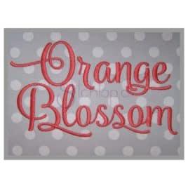 orange blossom 2 orange blossom embroidery font 2