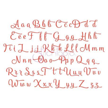 Stitchtopia Orange Blossom Embroidery Font #2