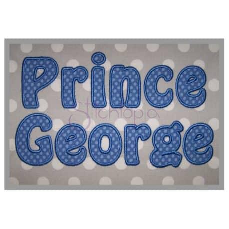 Prince George Applique Font